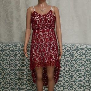 Dresses & Skirts - Wine/Burgandy High Low Spring Dress